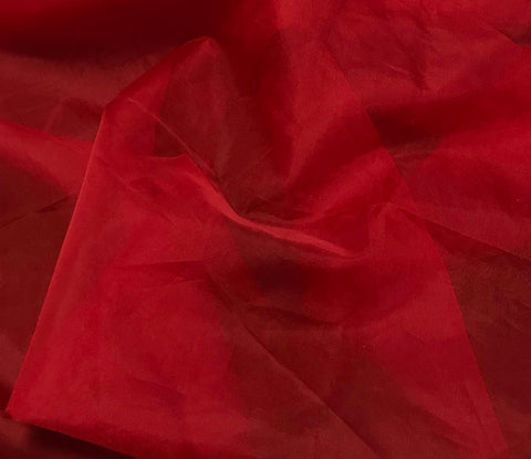 Scarlet Red - Silk Organza Fabric