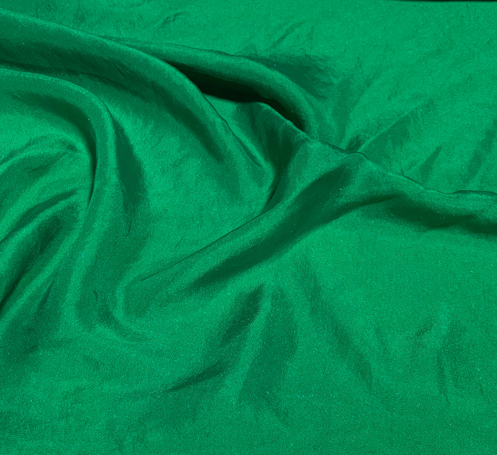 Emerald Green - Hand Dyed Silk Twill