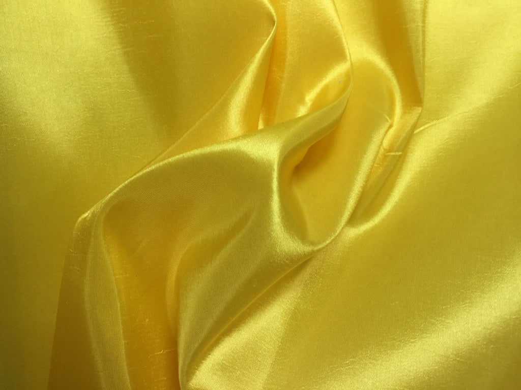 Lemon Yellow - Faux Silk Taffeta Fabric