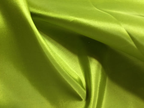 Kiwi Green - Faux Silk Taffeta Fabric