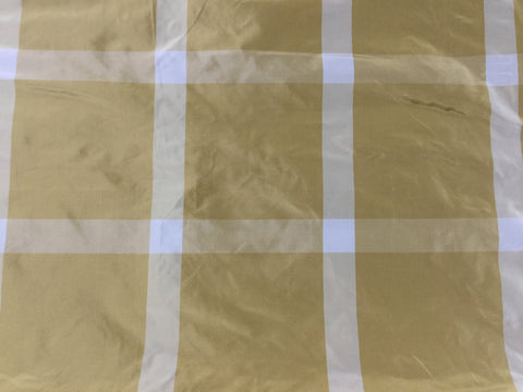 Gold Plaid - Silk Taffeta Fabric
