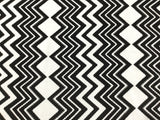 Black & White Chevron - Rayon Challis Fabric