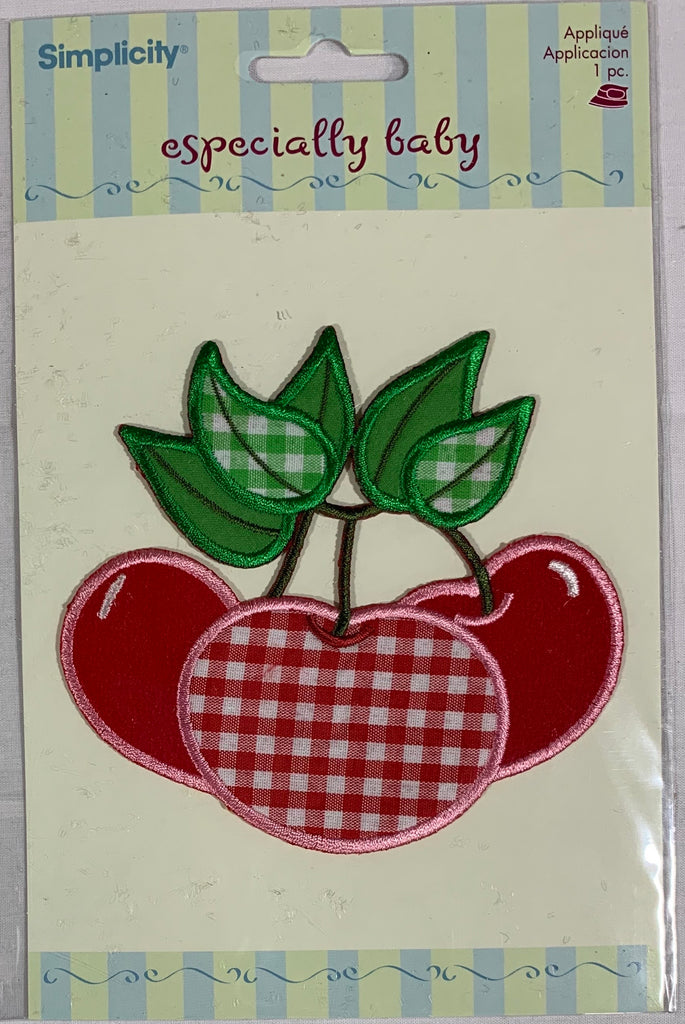 Gingham Cherry Bunch - Iron-On Applique by Wrights