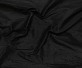 Black - Silk Dupioni Fabric