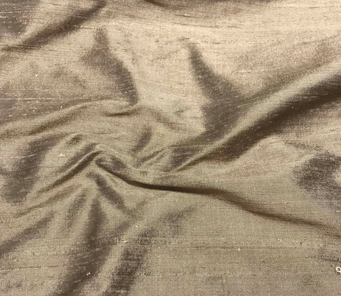 Coffee Brown - Silk Dupioni Fabric