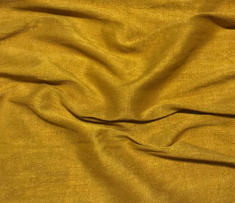 Hand Dyed Gold - Silk Dupioni Fabric