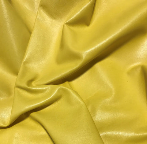 Mustard Yellow - Lambskin Leather