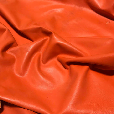 Bright Orange - Lambskin Leather
