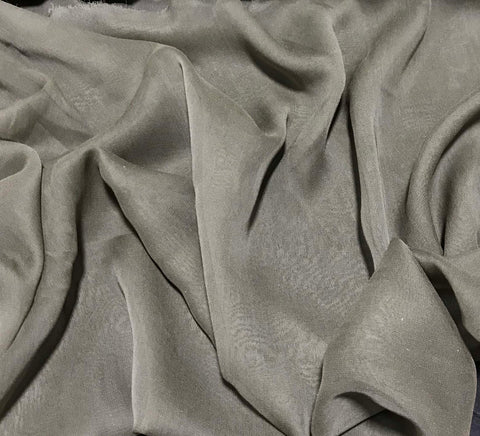 Smoky Taupe - Silk Chiffon Fabric