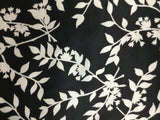 Black and White Leaves - Silk Charmeuse