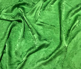 Apple Green Floral - Hand Dyed Silk Jacquard