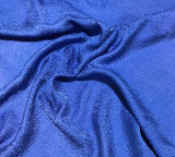 Periwinkle Blue Pebbles - Hand Dyed Silk Jacquard