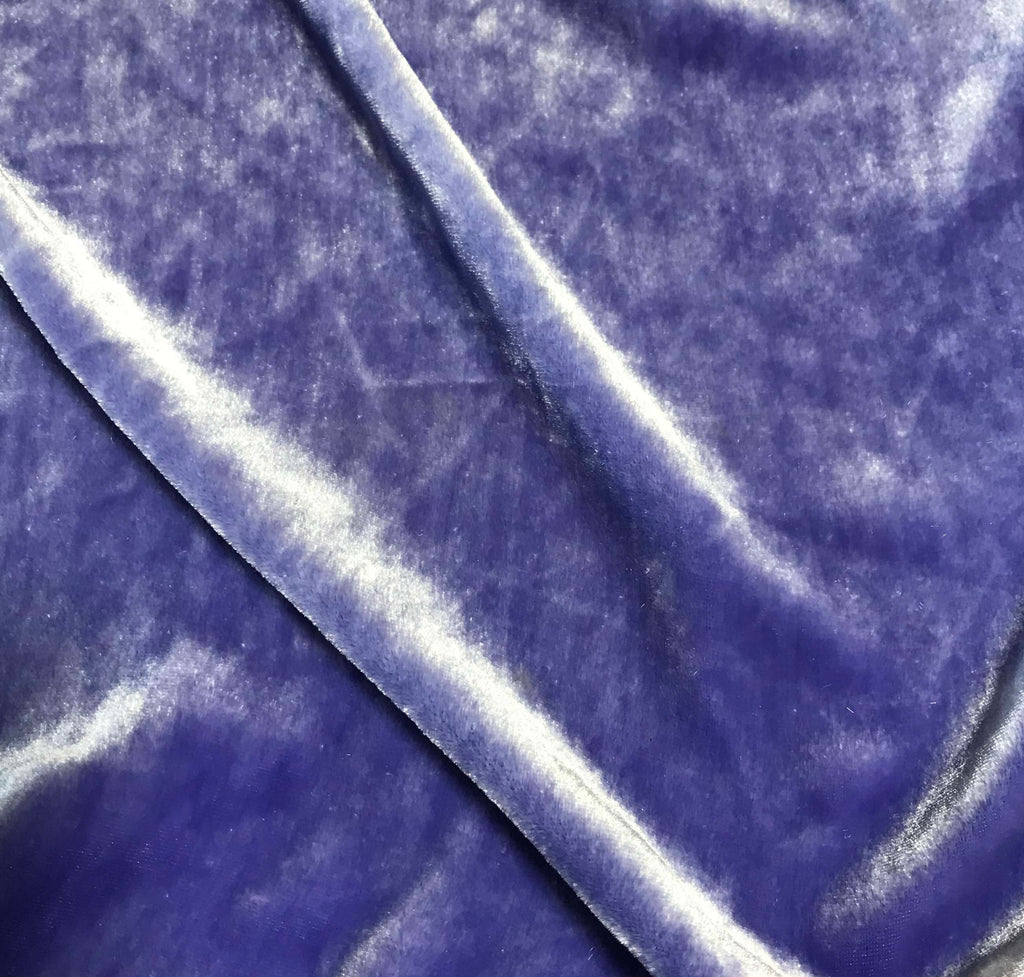 Iris Purple - Hand Dyed Silk Velvet