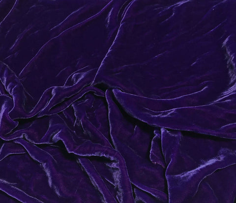 Bright Purple - Hand Dyed Silk Velvet