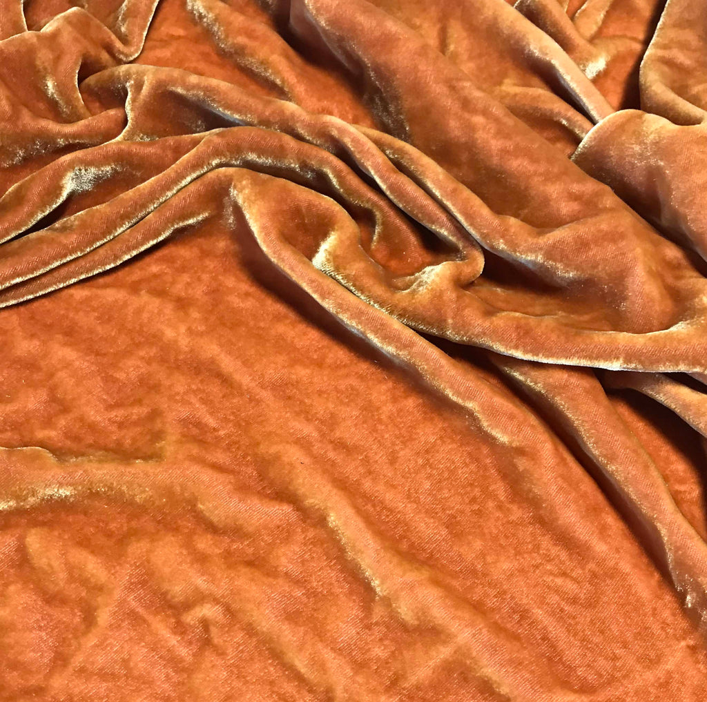 Red Cinnamon - Hand Dyed Silk Velvet