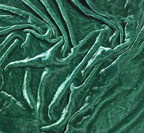 Evergreen - Hand Dyed Silk Velvet