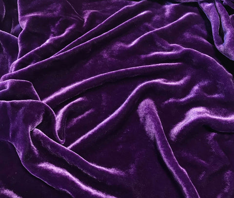 Amethyst Purple  - Hand Dyed Silk Velvet