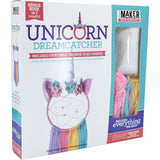 Unicorn DreamCatcher Book Plus Kit - Includes Hoops, Felt, Yarn, Floss, Beads, Needle, Fiberfill and 32-Page Project Book