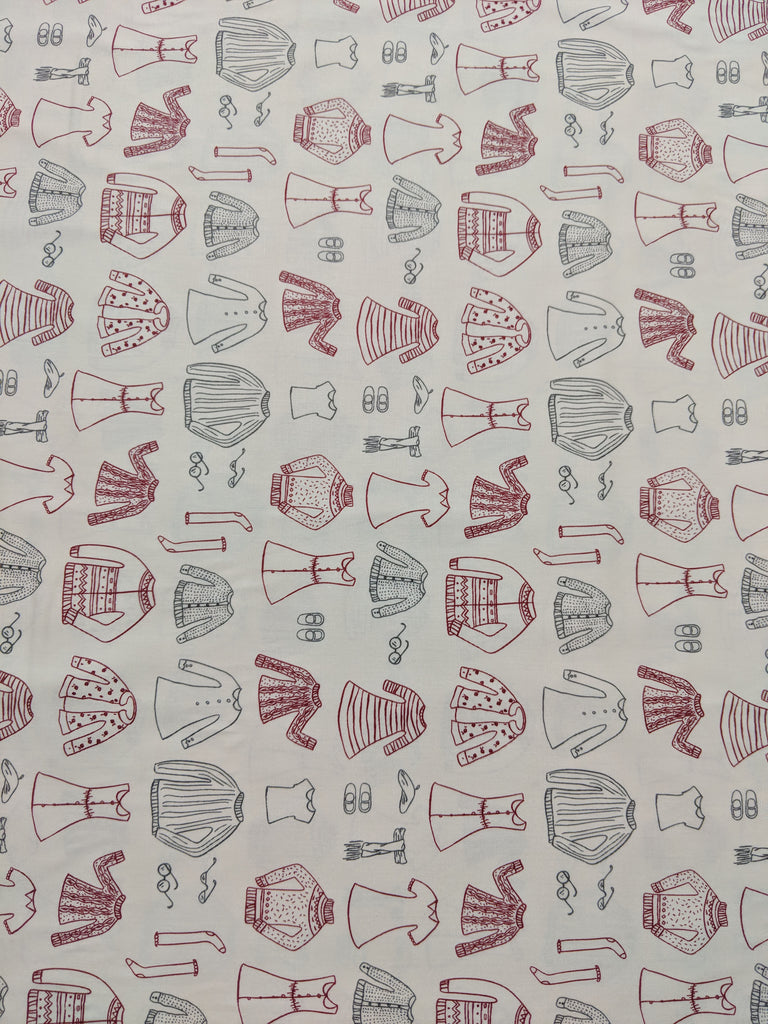 Little Clementine- Papercut Wardrobe Snowday - Art Gallery Cotton Fabric