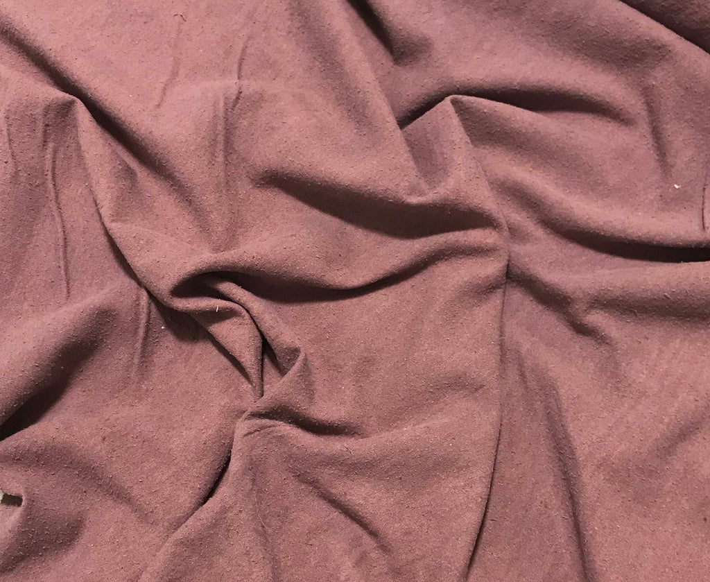 Mahogany Brown - Hand Dyed Silk Noil