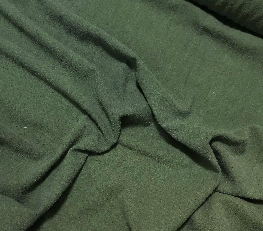 Moss Green - Hand Dyed Silk Noil