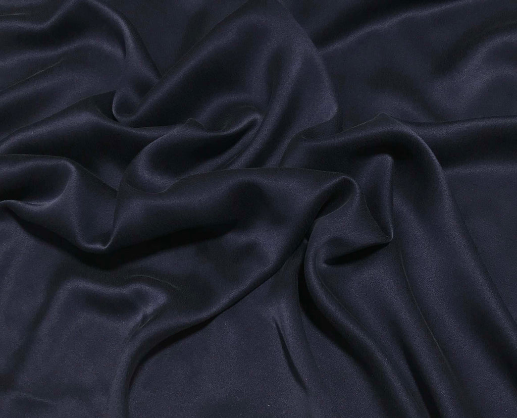 Navy Blue - Sandwashed Silk Charmeuse