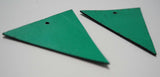 Triangle - Laser Cut Shapes 2 Pc -- Emerald Green Lambskin Leather