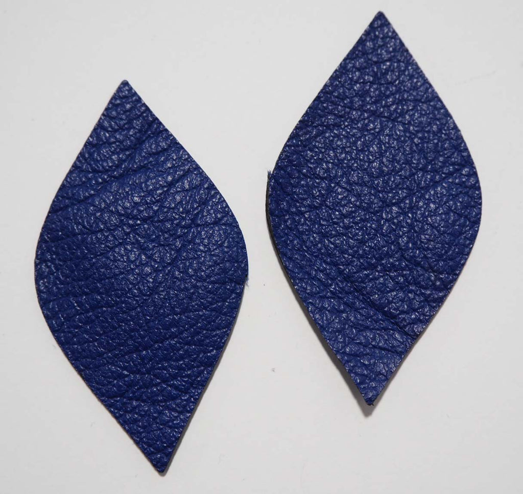 Rounded Diamond - Laser Cut Shapes 2 Pc - Blue Lambskin Leather