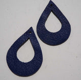 Cut Out Teardrop - Laser Cut Shapes 2 Pc - Blue Lambskin Leather