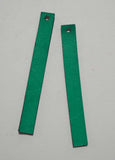 Rectangle - Laser Cut Shapes 2 Pc - Emerald Green Lambskin Leather