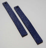 Rectangle - Laser Cut Shapes 2 Pc - Blue Lambskin Leather