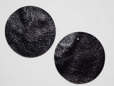 Circle - Laser Cut Shapes 2 Pc - Black Lambskin Leather