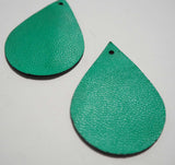 Teardrop - Laser Cut Shapes 2 Pc - Emerald Green Lambskin Leather