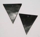 Triangle - Laser Cut Shapes 2 Pc - Dark Green Cow Hide Leather