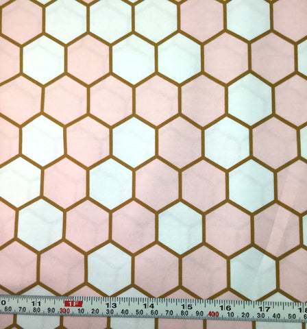 Hex Rose - Blush by Dana Willard for Art Gallery Fabrics - Premium Cotton