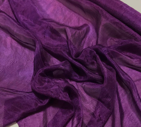 Purple - Hand Dyed Silk Habotai