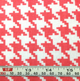Michael Miller Everyday Houndstooth - Coral - Cotton Quilting Fabric