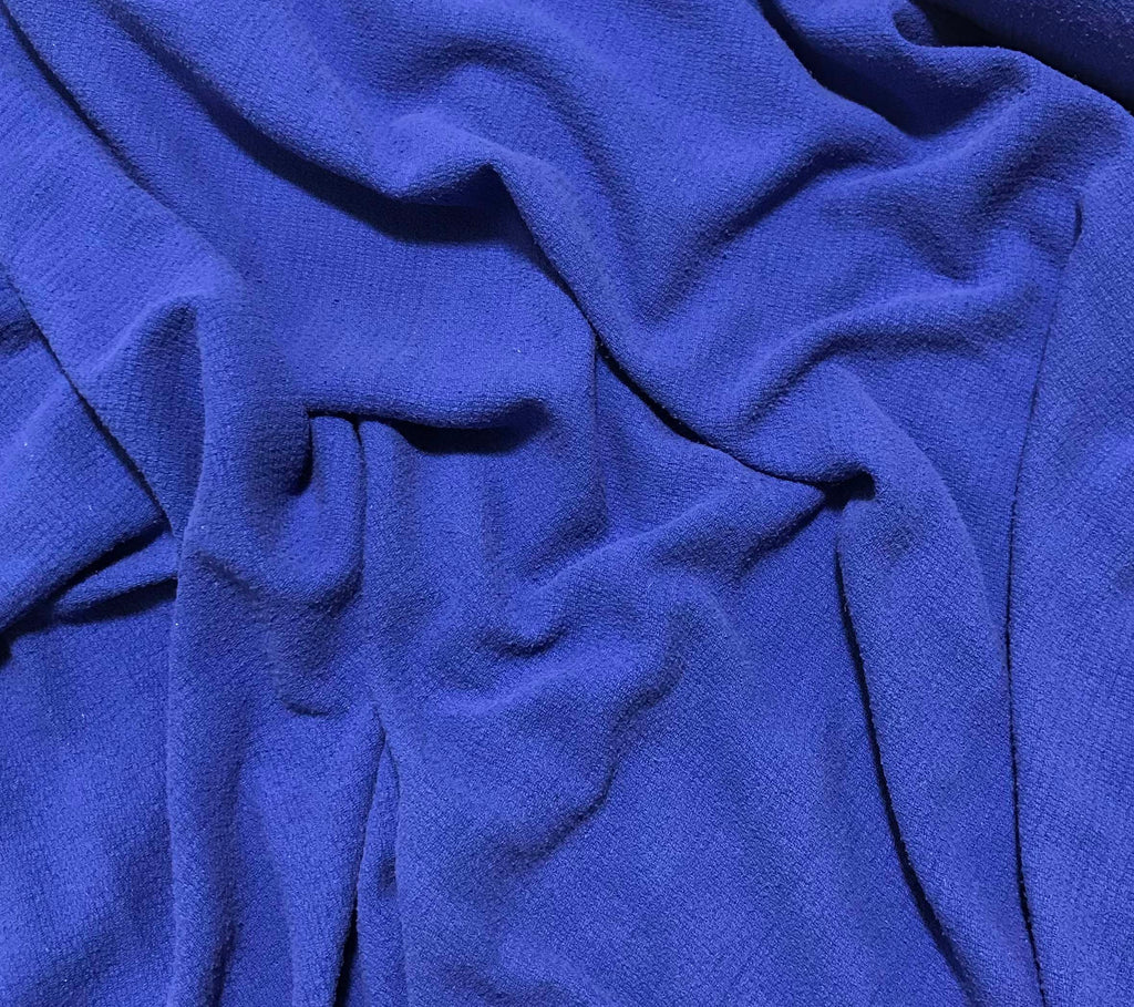 Royal Blue - Hand Dyed Squares Weave Silk Noil