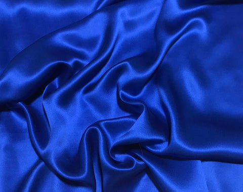 Royal Blue - Sandwashed Silk Charmeuse