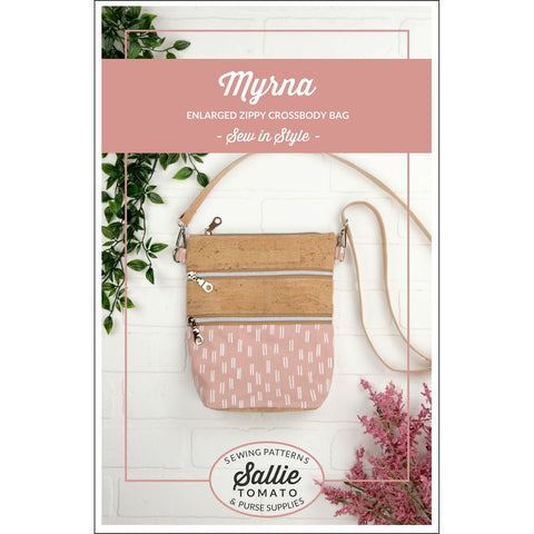 Myrna Enlarged Zippy Crossbody Bag  - Sallie Tomato Pattern