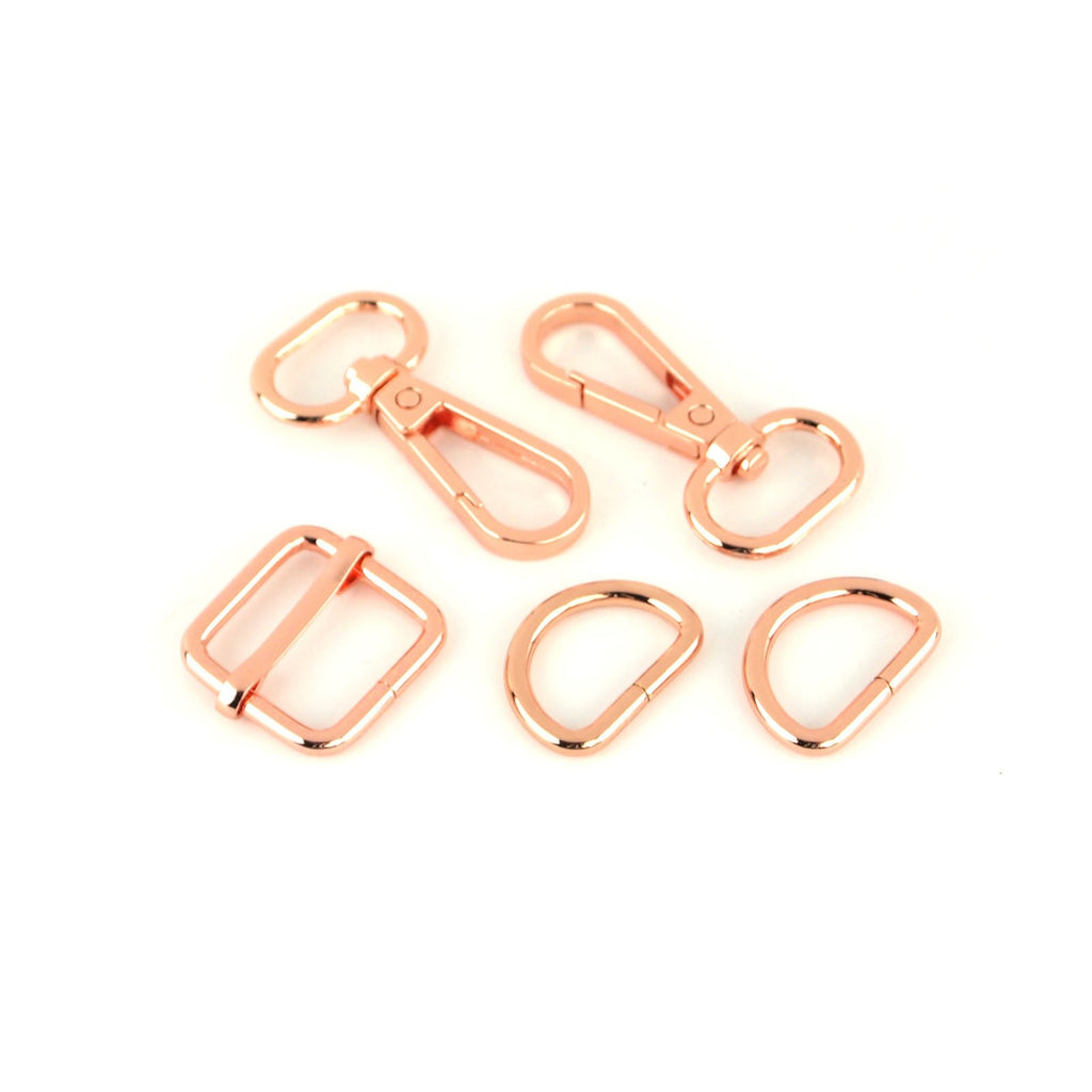"Sally Tomato 1 1/2"" Basic Hardware Set Rose Gold"