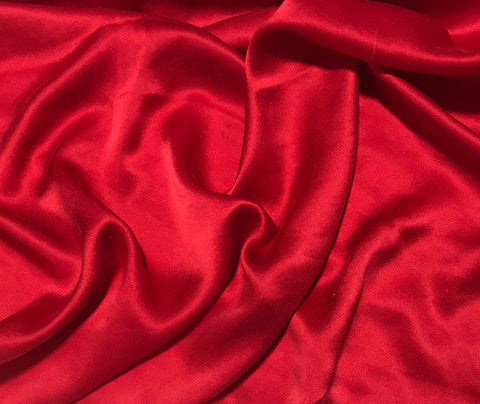 Scarlet Red - Sandwashed Silk Charmeuse