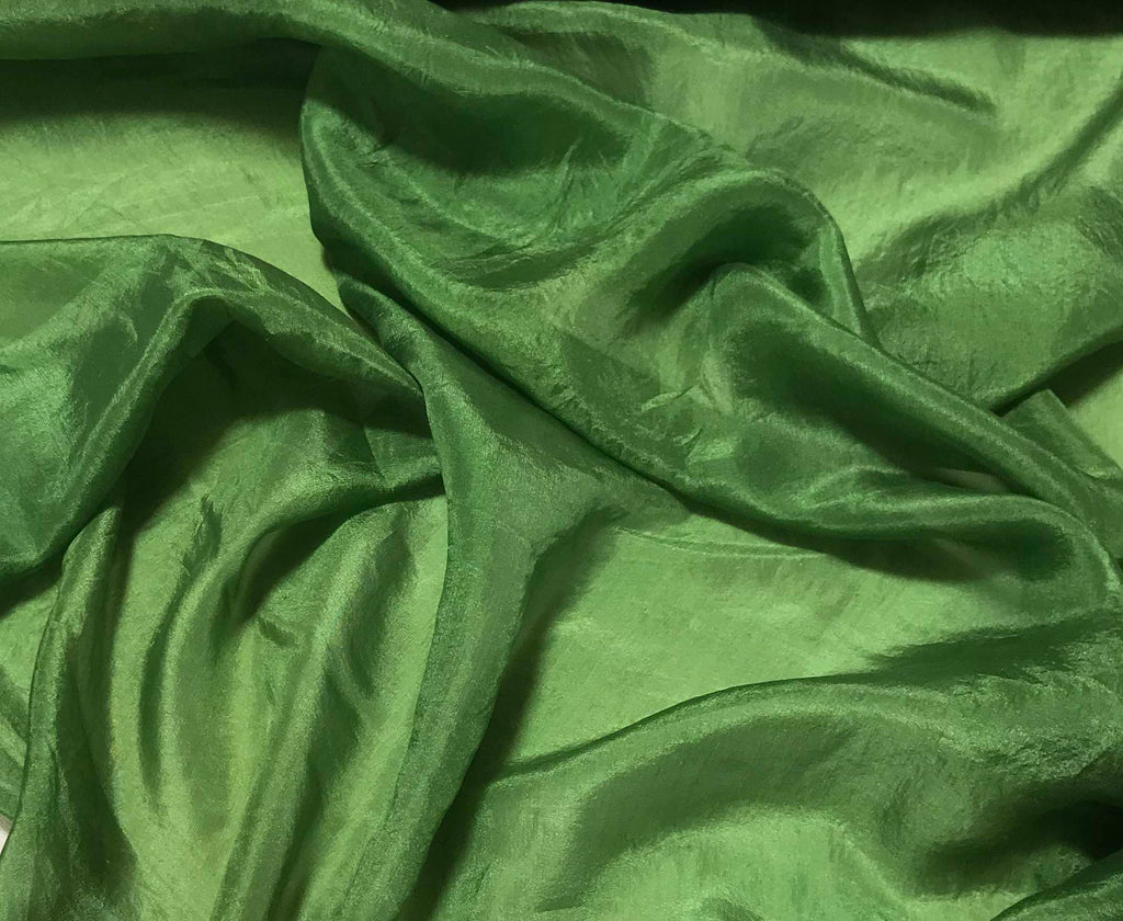 Avocado Green - Hand Dyed Silk Habotai