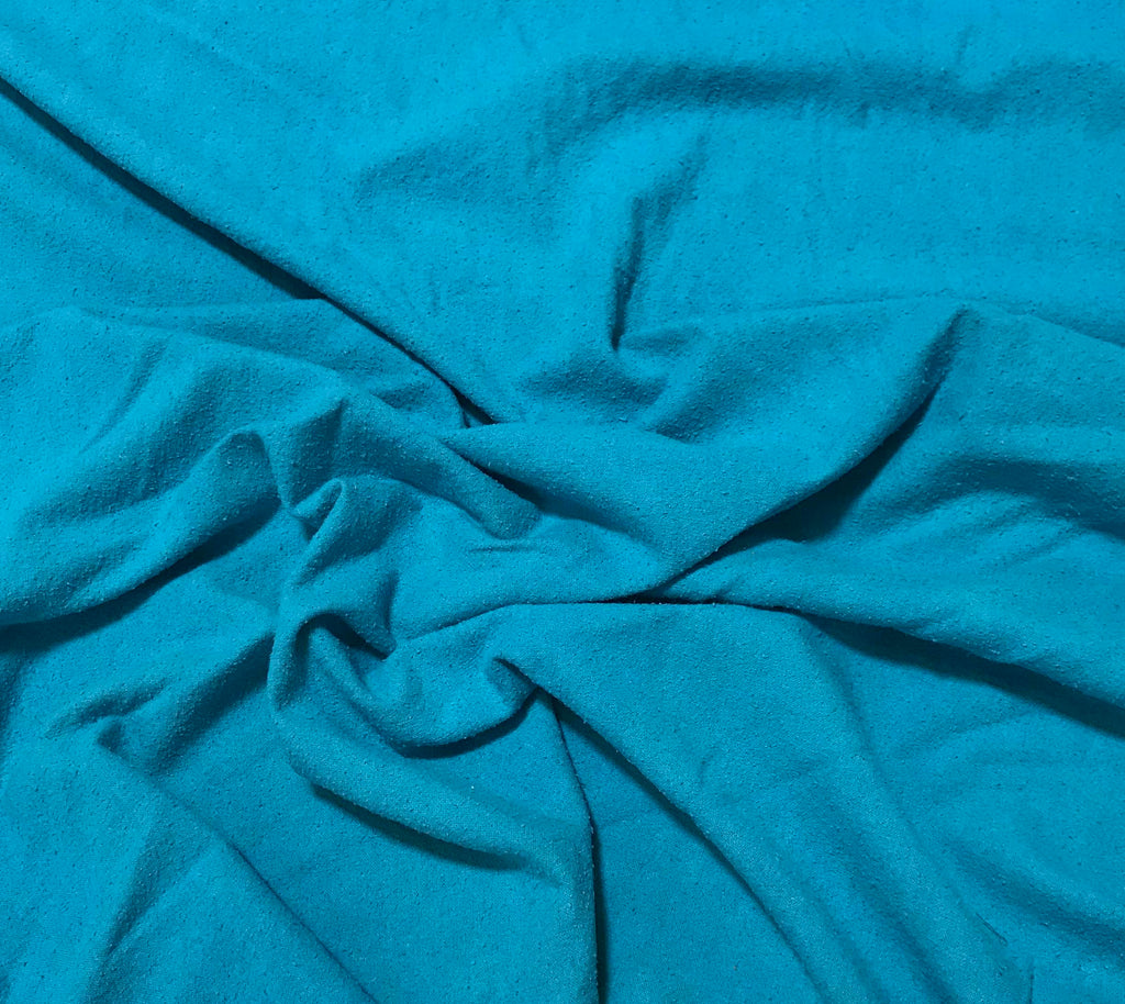 Teal Blue - Hand Dyed Silk Noil
