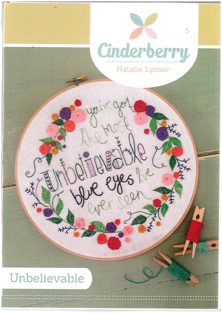 Unbelievable Embroidery Pattern - Cinderberry