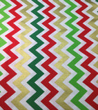 Robert Kaufman - Remix Metallic Large Chevron Holiday - Cotton Quilting Fabric