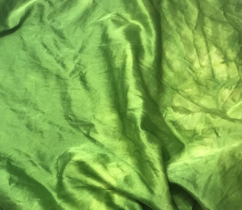 Apple Green - Hand Dyed Silk/Cotton Satin