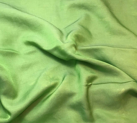 Apple Green - Hand Dyed Silk/Cotton Sateen