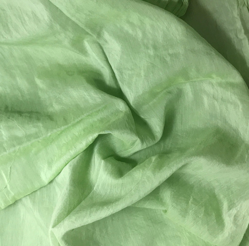 Apple Green - Hand Dyed Silk/Cotton Voile