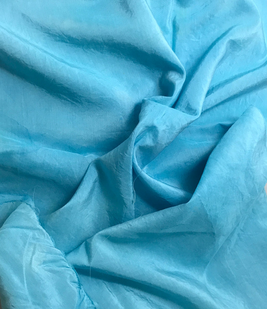Aquamarine - Hand Dyed Silk/ Cotton Habotai